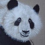 """""""Panda de face"""" - acrylique """" 20 x 20 cm"""