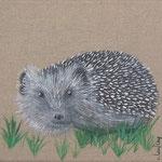 """""""Hérisson"""" - acrylique - 20 x 20 cm"""