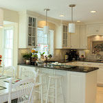 Maple Cabinets, Painted White