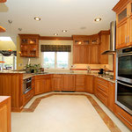 Natural Cherry Cabinets, Heated Tile Floors