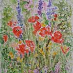 Jardin d'Eliane - aquarelle (vendu) pas de reproduction