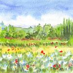 Dordogne, l'été ORIGINAL - réf PAY002 - 30x40 cm - 200 €