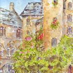 Sarlat, Hôtel Part. XVe s (vendu) vente reproduction 16 €- Réf SAR006 -vente reproduction