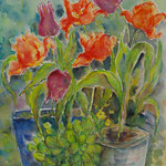 Tulipes de mon jardin,ORIGINAL.TUL001 - vendu