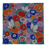 Tissu fleurs- réf. TF5 - aquarelle 30x30cm -75 € -