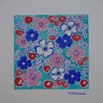 Tissu fleurs TF4 - 75 €