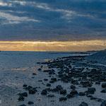 ' Waddenzee Vlieland onder een wolkendeken'