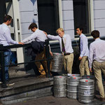 'students prepare for the weekend'