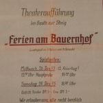 Theaterspiel 1973 - Ferien am Bauernhof - Musik
