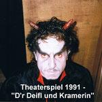 Theater 1991 - D'r Deifl und Kramerin_Teufel
