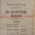Theaterspiel 1972 - Der wurmstichige Hochzeiter - Musik