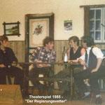 Theater 1985 - Der Regierungsvetter Szene