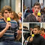 Links Martin aus Tschechien, rechts oben Marko aus Serbien, rechts unten Philipp aus Deutschland