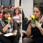 Links Ivanka aus der Ukraine und rechts Francisca aus Rumänien