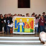 Die tschechische Gruppe berichtet und singt über ihre Heiligen Kyrill und Method, die beiden Patrone Europas.