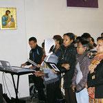 Der Chor der eritreischen Gemeinde