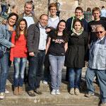 Die Gruppe aus Rumänien mit Birgit Schumak, Rolf Müller und Klaus-Dieter Then