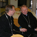 Pfarrer Ivan Machuzhak und Pfarrer Lirka von der ukrainisch griechisch-katholische Kirche