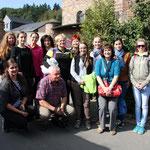 Die Gruppe aus der Slowakei mit Frau Dr. Natalie Feige von muttersprachlichen slowakischen Gemeinde in Frankfurt