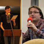 Sviatoslav aus der Ukraine und Matthias Blöser von Pax Christi Limburg, der alle Beiträge an diesem Abend auf englisch und deutsch zusammenfasste.