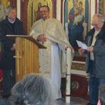 Übergabe der Osterkerze an die griechisch-katholische Gemeinde