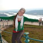 Krýstina aus Tschechien ist glücklich und zufrieden.