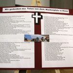 Die Toten des Maidan (Gedenktafel - ausgestellt in den 4 Kirchen des Pastoralen Raumes)