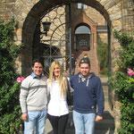 Maja, die Serbin, mit Engelbert und Daniel aus dem Kosovo