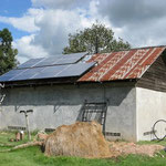 die Solarmodule wurden auf der Schule montiert