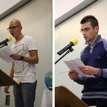 Links Shaaon aus Deutschland und rechts Bardhyl aus Albanien