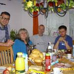 Serbische Gäste sind bei Familie Pfeifer untergebracht.