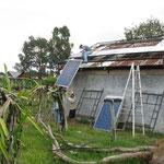 Montage der Solarmodule
