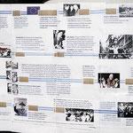 """""""Zeitstrahl"""" Wichtige Ereignisse in Europa nach dem Zweiten Weltkrieg (aus dem Renovbis-Themenheft - ausgestellt in der St. Hedwigkirche)"""