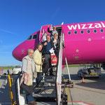 Abflug vom Flughafen Hahn