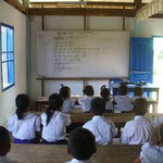 Der Klassenraum, der renoviert wurde