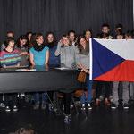 Die tschechischen Gäste singen einen Kanon.