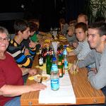 """Frau Dietz mit """"ihren"""" Jugendlichen aus der Slowakei"""