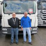 Klaus-Dieter Then und Peter Schwartz bei einer Rast