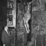 Antigua Capilla del Cristo del Silencio junto a la puerta del Sagrario de la Parroquia de San Mateo