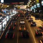 Вечерний траффик на Сущёвском Валу