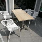 Steigerhouten terrastafel voor buiten Mennoos Kookerij