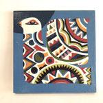 『明日を見る鳥』   木製パネル 300×300 水性塗料