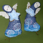 """Angels - patrons of the winter"" height 18 cm"