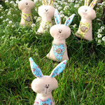 """Floral bunnies"" height 17 cm"