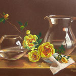 """GLASS AND ROSES"" 28Х46"