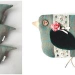 "Textile birds ""Pear"""