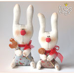 Caramel rabbit, height 27 cm