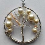 perle in vetro e filo argentato