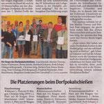 NW vom 06.10.2012 - Dorfpokalschießen 2012