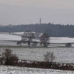 Blick von der Wanderroute zum Krugberg
